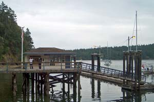 Canadian Customs Entry Point in Bedwell Harbour, Pender Island