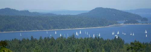 Sailing among the Gulf Islands