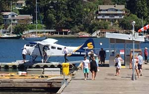 Seaplane dock in Ganges, Salt Spring Island