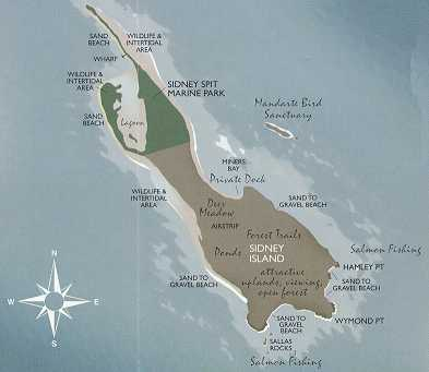 Map of Sidney Island